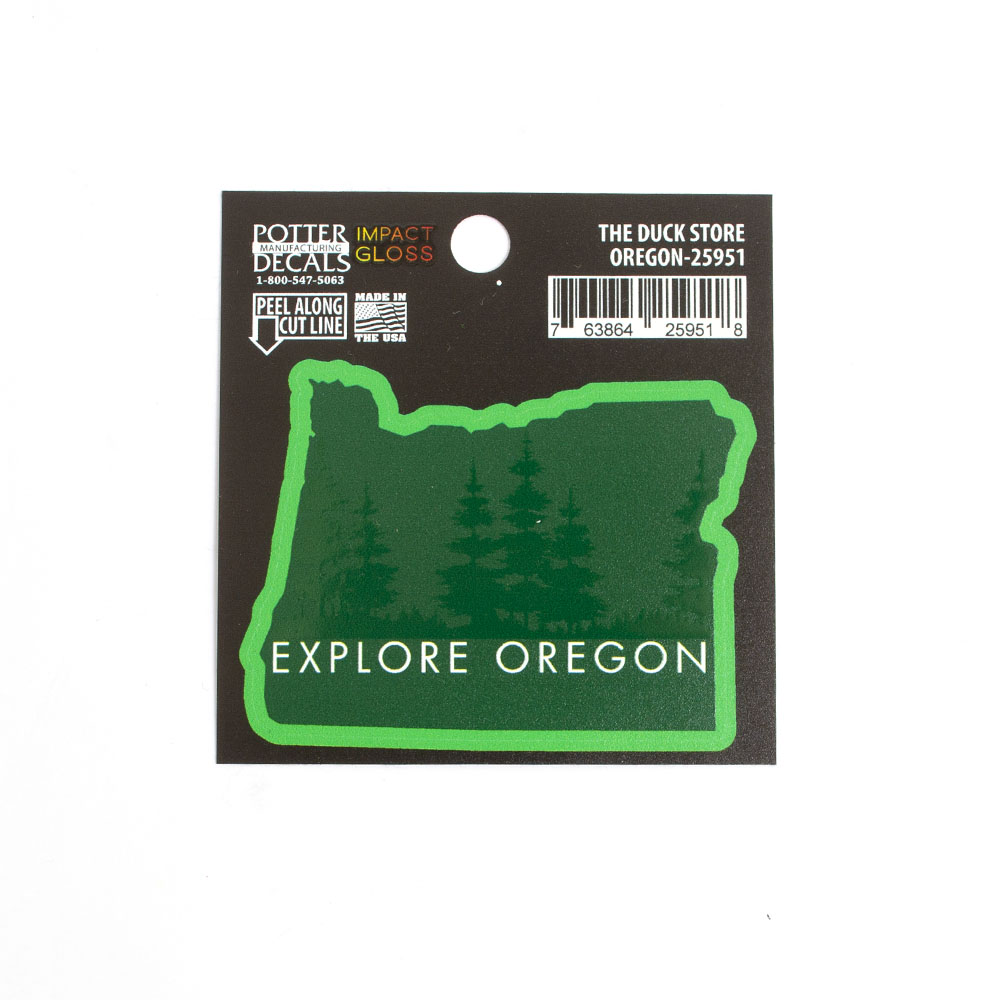 Explore Oregon, Glossy, Decal